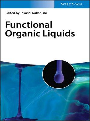 cover image of Functional Organic Liquids