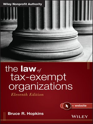 cover image of The Law of Tax-Exempt Organizations