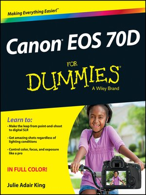cover image of Canon EOS 70D For Dummies