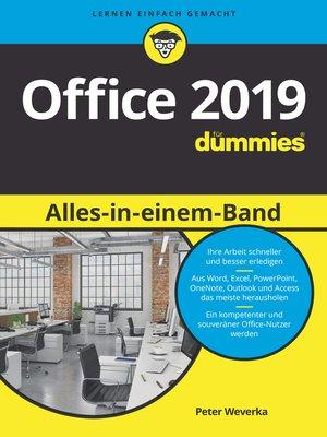 cover image of Office 2019 Alles-in-einem-Band für Dummies