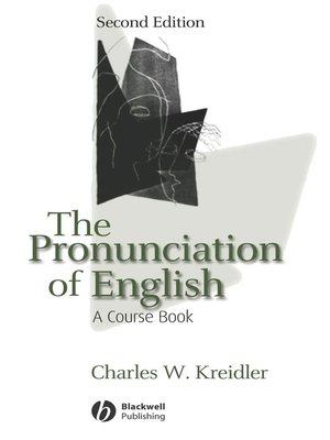 cover image of The Pronunciation of English