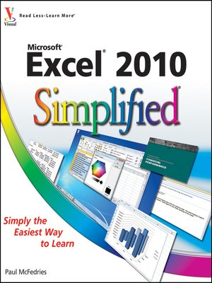 cover image of Excel 2010 Simplified