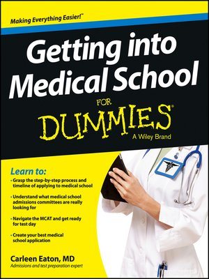 cover image of Getting into Medical School For Dummies