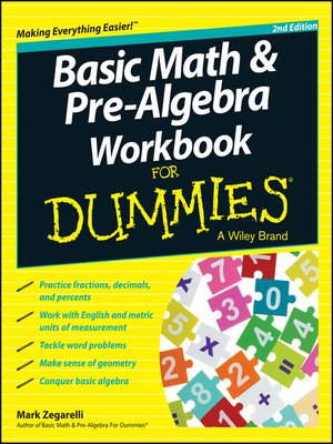 cover image of Basic Math and Pre-Algebra Workbook For Dummies