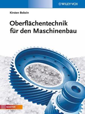 cover image of Oberflächentechnik für den Maschinenbau