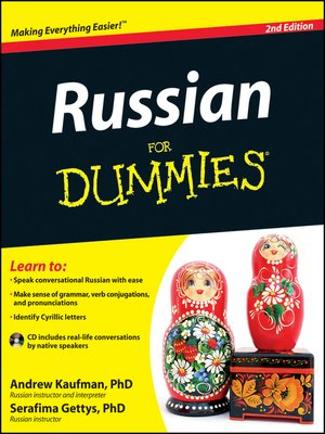 cover image of Russian For Dummies