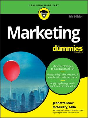 cover image of Marketing For Dummies
