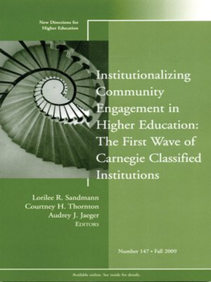 cover image of Institutionalizing Community Engagement in Higher Education