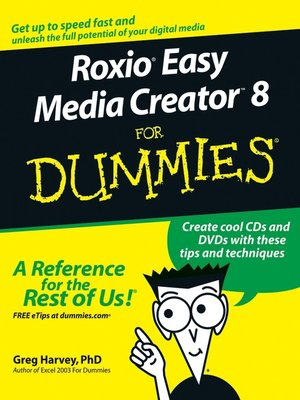 cover image of RoxioEasy Media Creator8 For Dummies