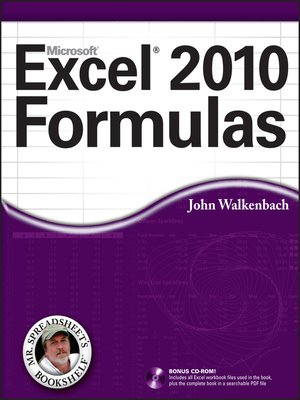 cover image of Excel 2010 Formulas