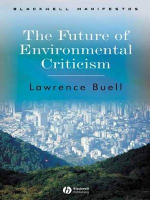 cover image of The Future of Environmental Criticism