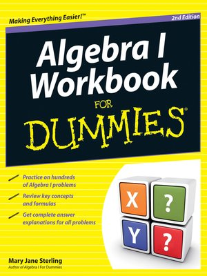 cover image of Algebra I Workbook For Dummies