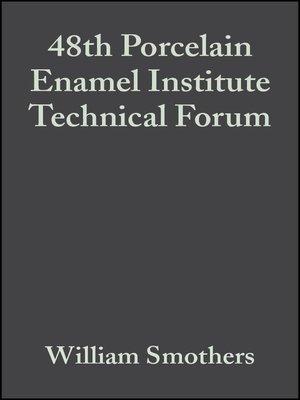cover image of 48th Porcelain Enamel Institute Technical Forum