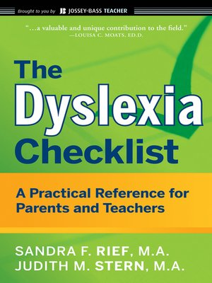 cover image of The Dyslexia Checklist