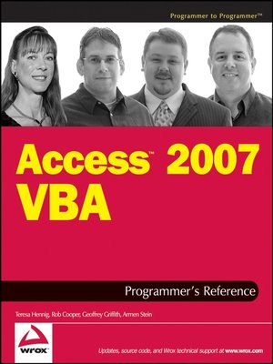 cover image of Access 2007 VBA Programmer's Reference