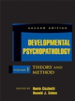 cover image of Developmental Psychopathology, Developmental Neuroscience