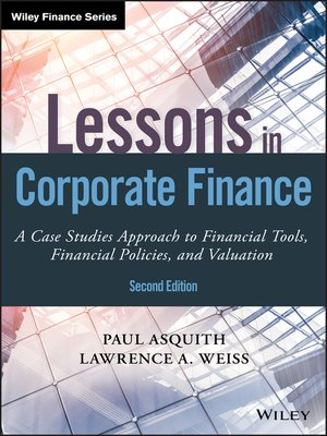 cover image of Lessons in Corporate Finance