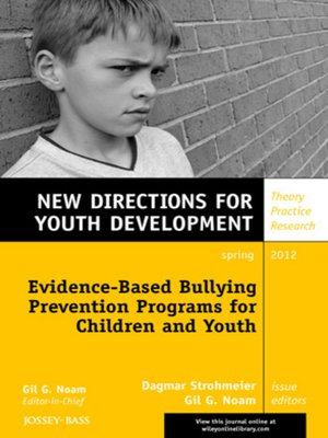 cover image of Evidence-Based Bullying Prevention Programs for Children and Youth