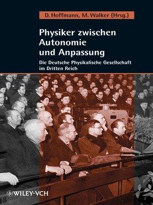 cover image of Physiker zwischen Autonomie und Anpassung