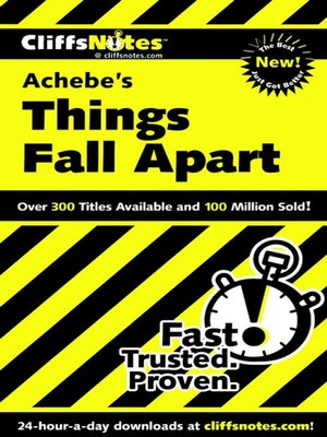 cover image of CliffsNotes on Achebe's Things Fall Apart