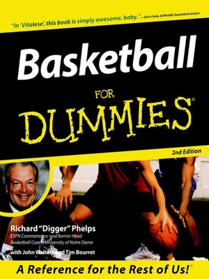 cover image of Basketball For Dummies