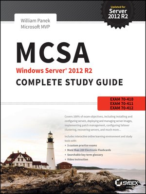 cover image of MCSA Windows Server 2012 R2 Complete Study Guide