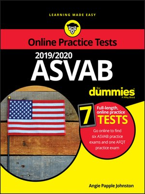 cover image of 2019 / 2020 ASVAB For Dummies with Online Practice