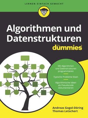 cover image of Algorithmen und Datenstrukturen für Dummies