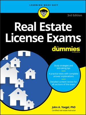 cover image of Real Estate License Exams For Dummies