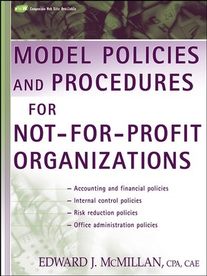 cover image of Model Policies and Procedures for Not-for-Profit Organizations