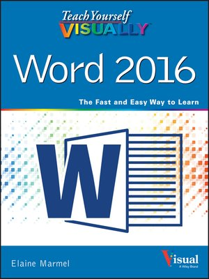 cover image of Teach Yourself VISUALLY Word 2016