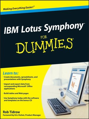 cover image of IBM® Lotus® SymphonyTM For Dummies®