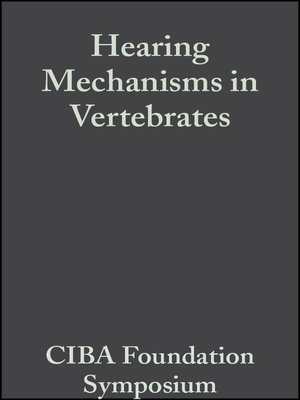 cover image of Hearing Mechanisms in Vertebrates