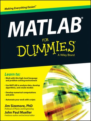 cover image of MATLAB for Dummies