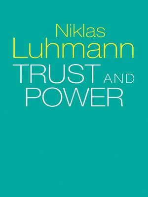 cover image of Trust and Power