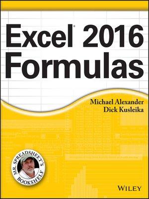 cover image of Excel 2016 Formulas