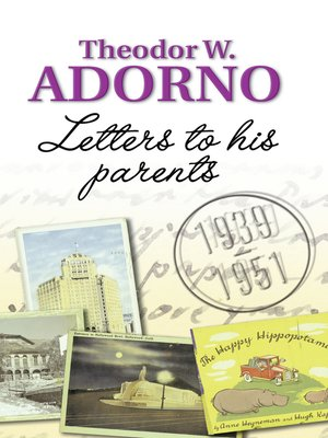 cover image of Letters to his Parents