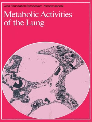 cover image of Metabolic Activities of the Lung