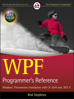 cover image of WPF Programmer's Reference