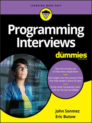 cover image of Programming Interviews For Dummies