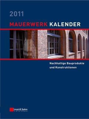 cover image of Mauerwerk-Kalender 2011