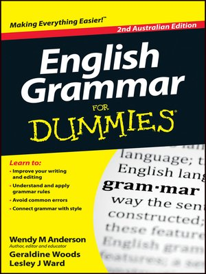 English Grammar For Dummies by Wendy M  Anderson · OverDrive