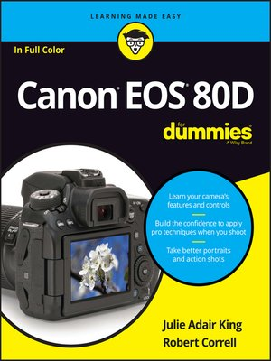 cover image of Canon EOS 80D For Dummies