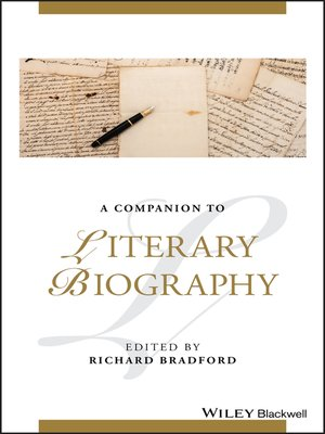 cover image of A Companion to Literary Biography
