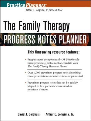 cover image of The Family Therapy Progress Notes Planner