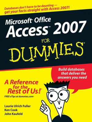cover image of Access 2007 For Dummies