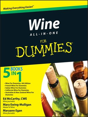 cover image of Wine All-in-One For Dummies