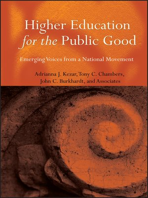 cover image of Higher Education for the Public Good