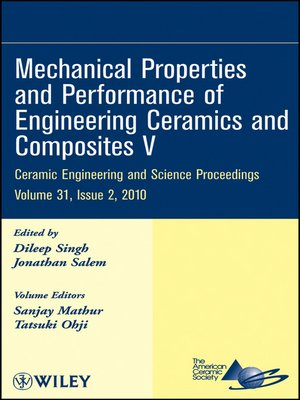 cover image of Mechanical Properties and Performance of Engineering Ceramics and Composites V