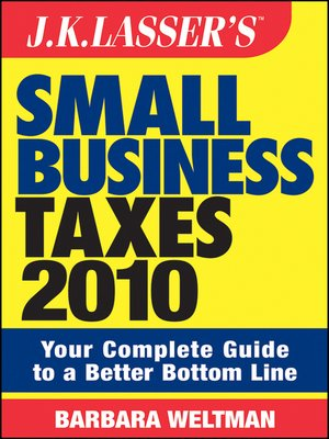 cover image of J.K. Lasser's Small Business Taxes 2010